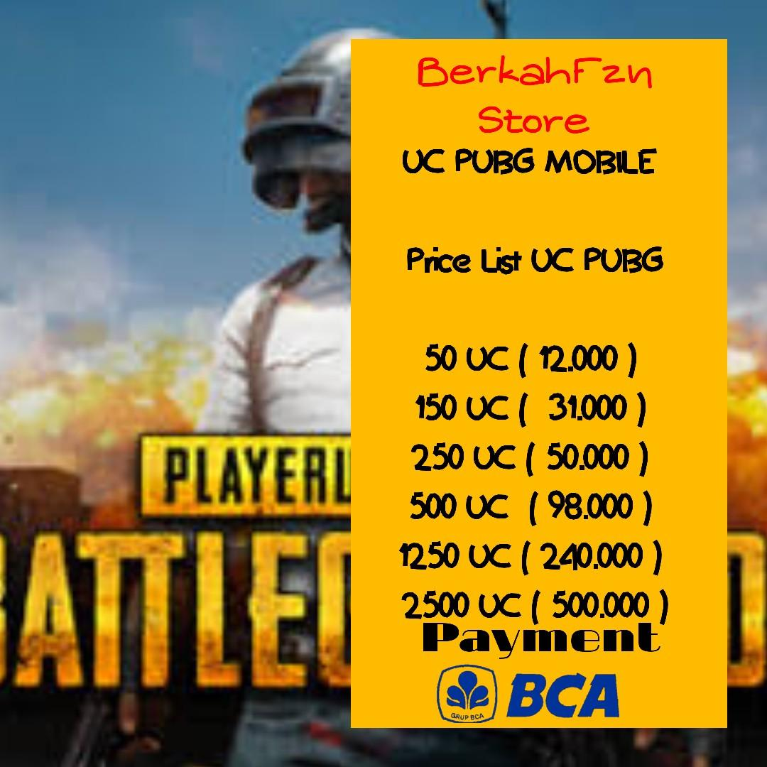 JUAL UC PUBG 100% TRUSTED