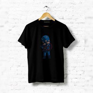 Kaos Captain America 100% Cotton Sisa Size S, XL