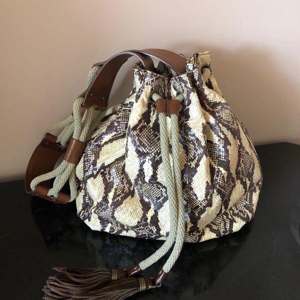 Lanvin Python Bucket Bag