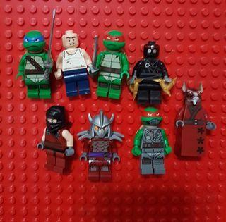 Lego Lot of 8 Teenage Mutant Ninja Turtle Minifigures