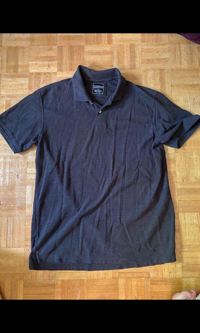 Men's champs dark grey polo