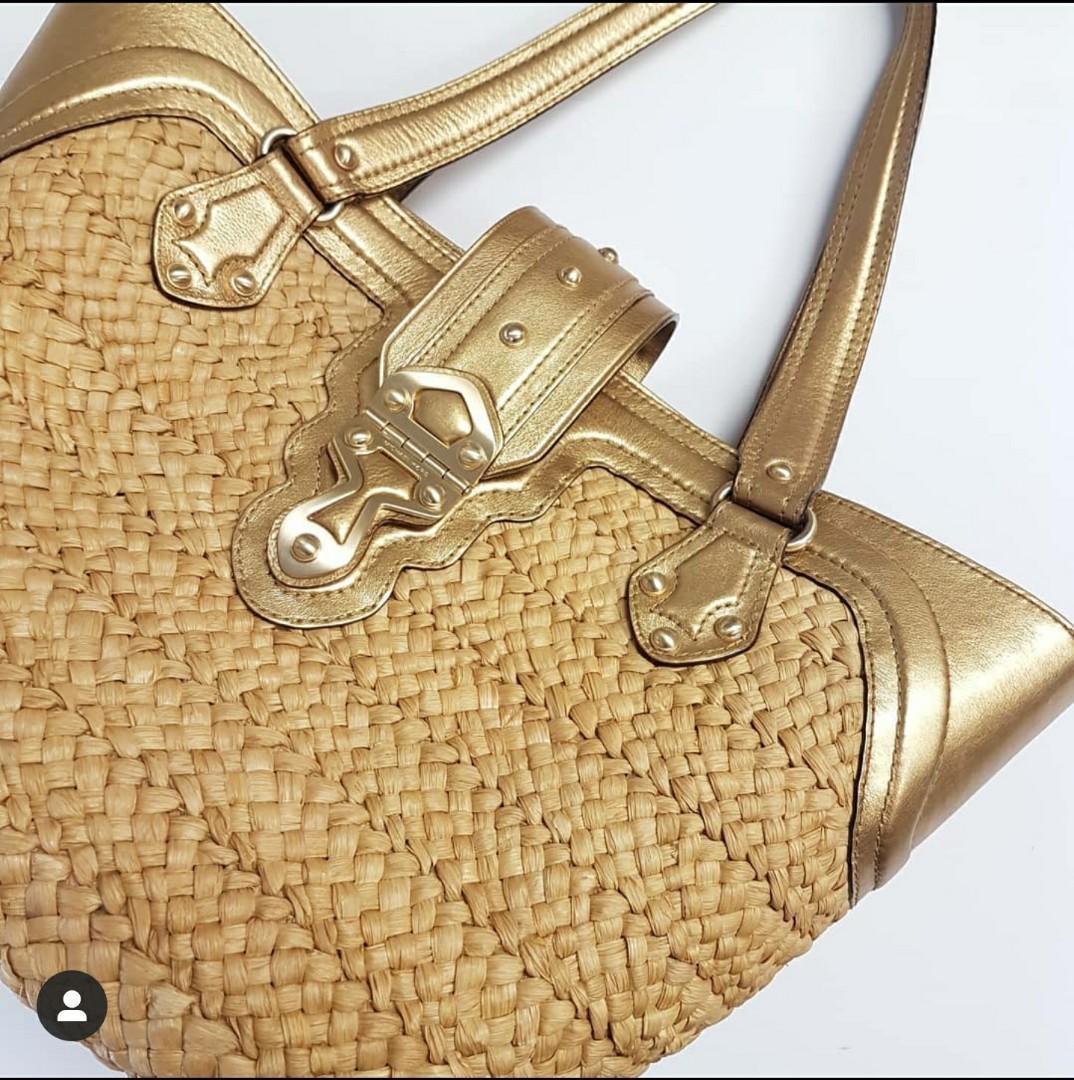 Michael Kors Straw Tote Bag