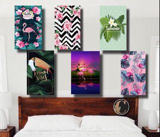 Pajangan dinding flaminggo