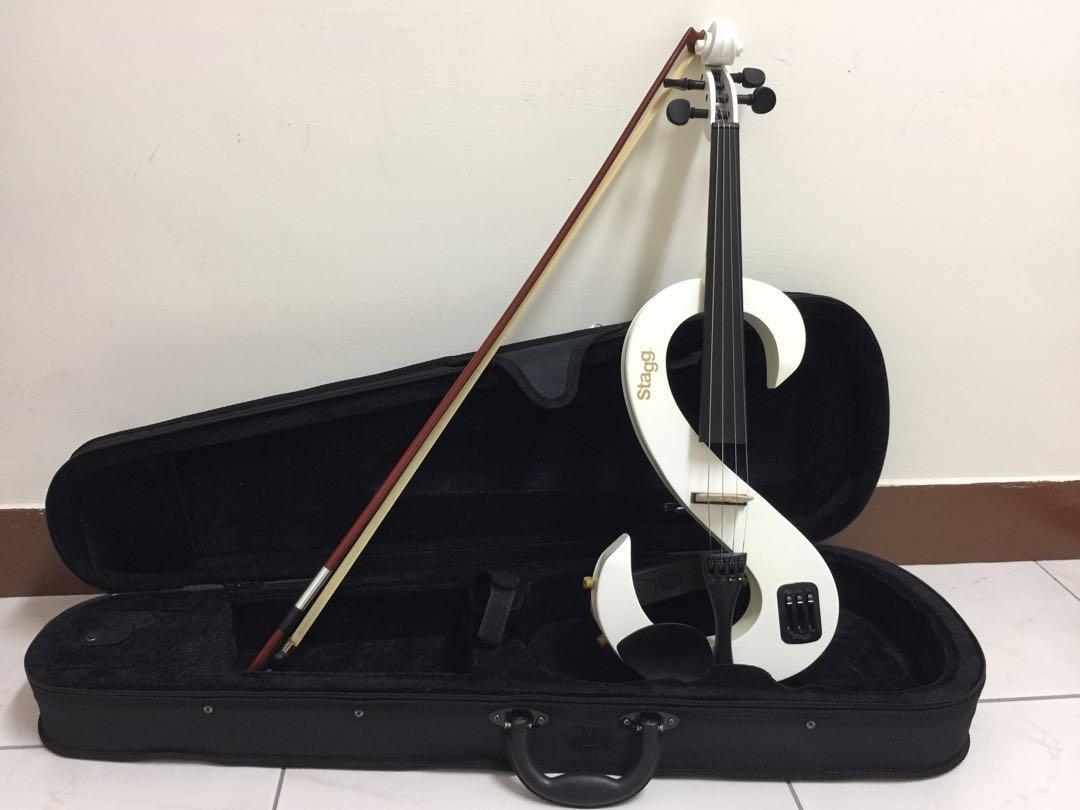 stagg 電子小提琴 付:弓、松香、琴盒、音箱