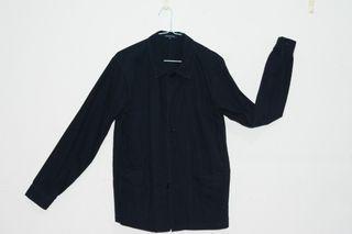 Urban Research 黑色襯衫外套