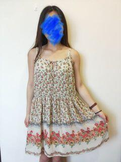(不換物) ✨綁帶碎花洋裝✨