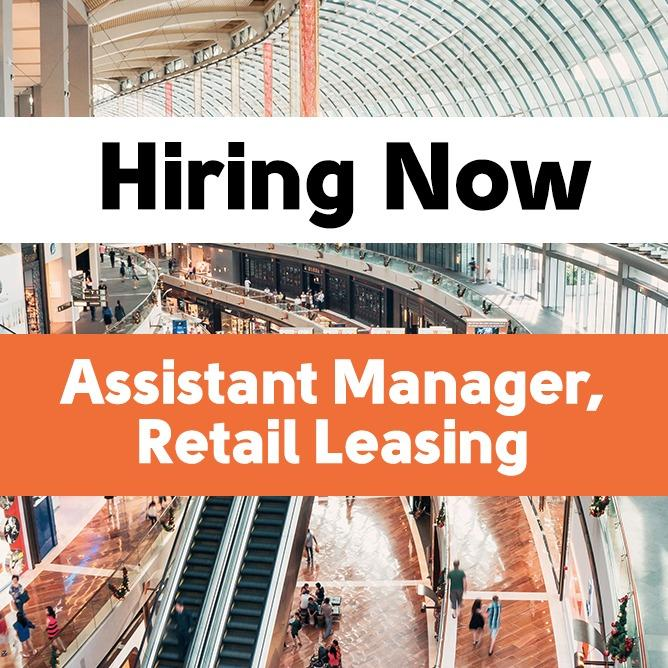 Assistant Manager, Retail Leasing
