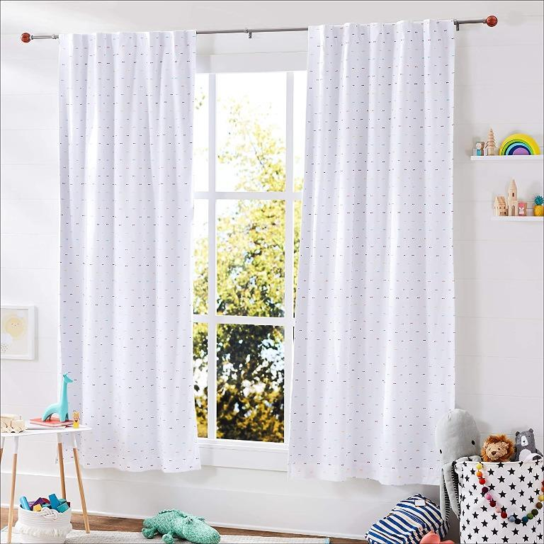 """Decorative 5/8"""" Curtain Rod with Basketball Finials (Size 28""""- 48"""")"""