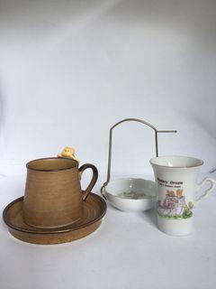 decorative cup and saucer set