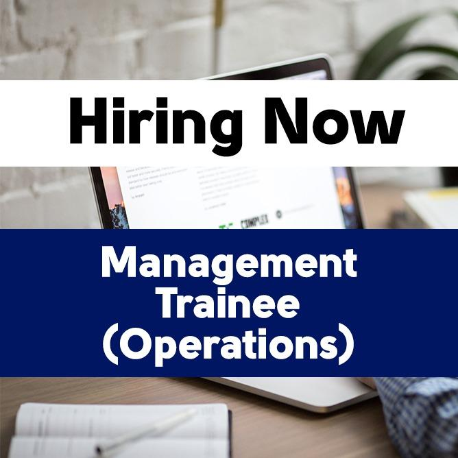 Management Trainee (Operations)