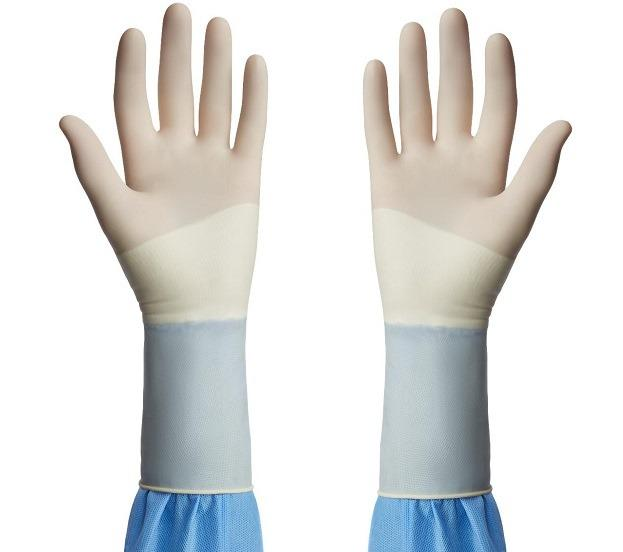 Medline Triumph Sterile Powder-Free Latex Surgical Gloves -individually wrapped (Size 5.5)