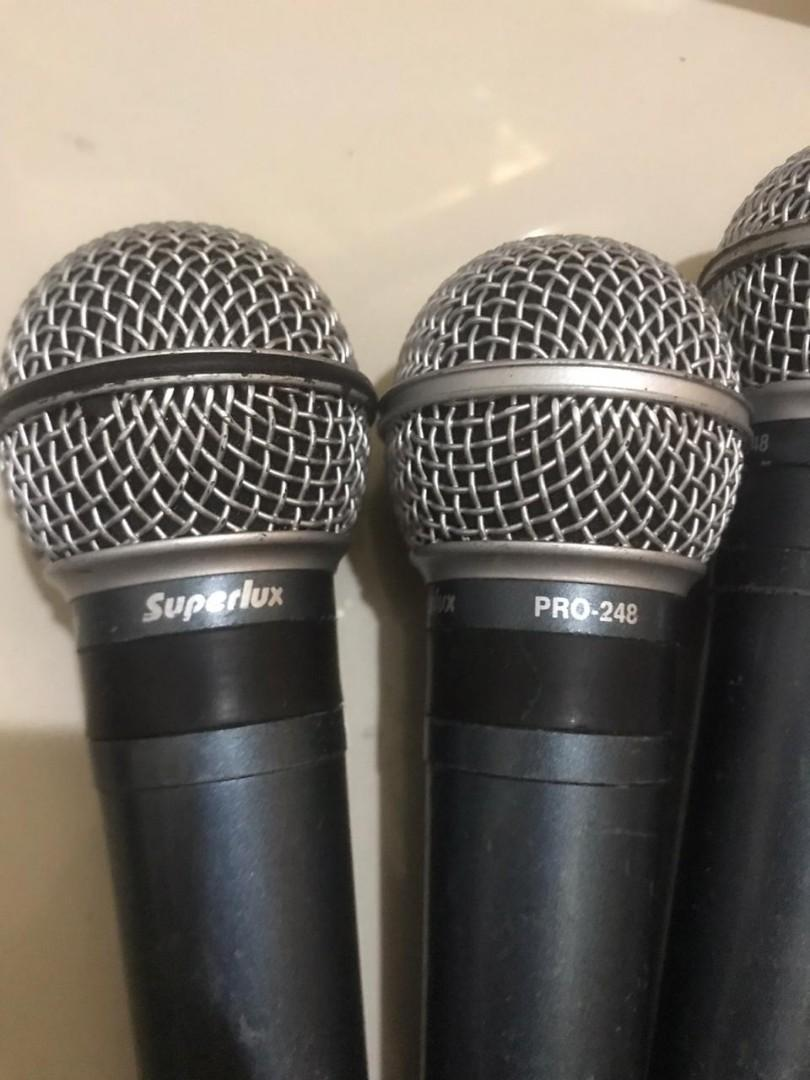 Microphone superlux and direct box suntec