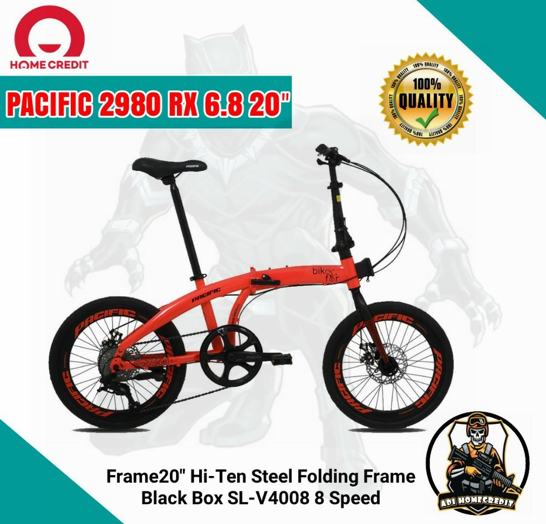 Sepeda Lipat Pacific 2980 Rx 6 8 Bisa Cash Kredit Olah Raga Sepeda Di Carousell