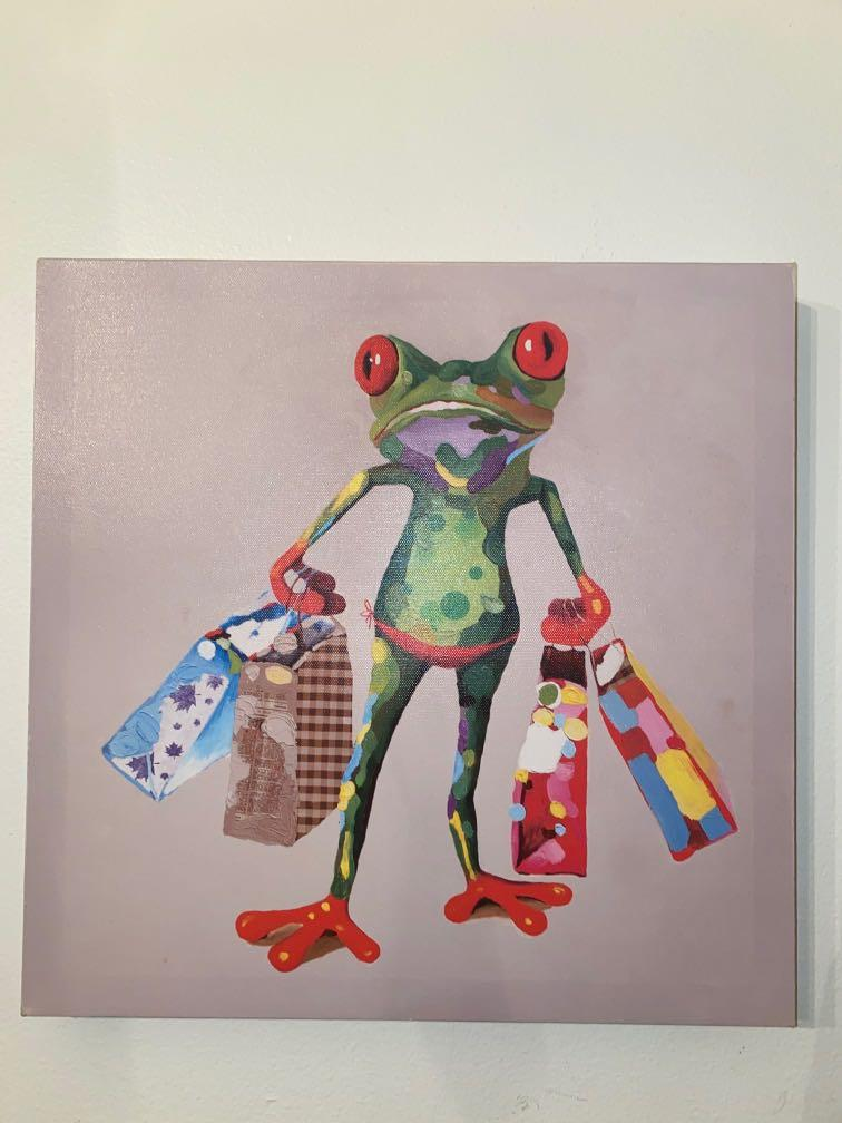Shopping Frog Painting