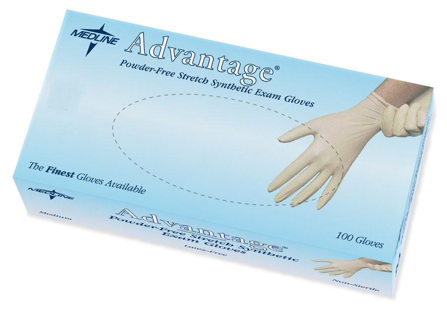 Size S Advantage Powder-Free Stretch Vinyl Synthetic Exam Gloves
