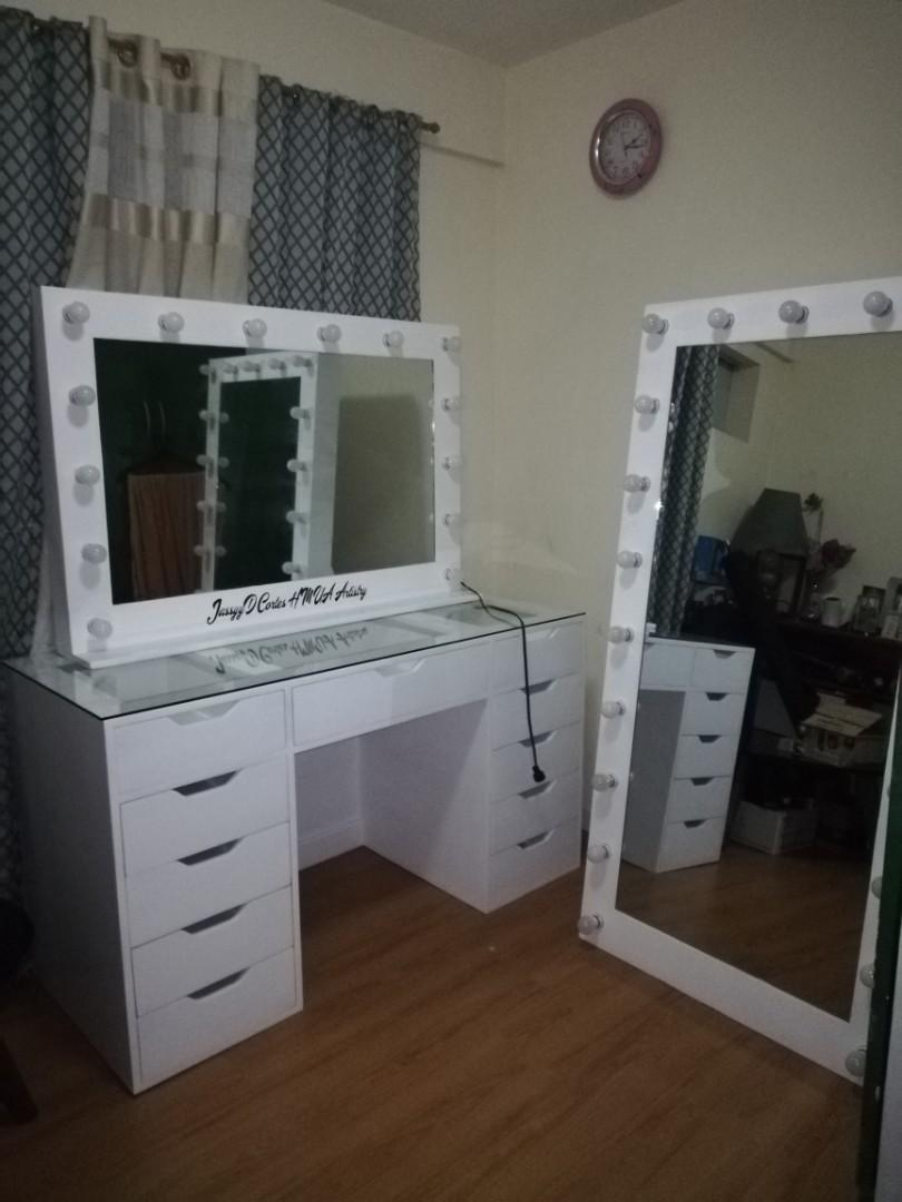 Vanity Table Vanity Mirror And Whole Body Vanity Mirror Vanity Set Dresser Home Furniture Furniture Fixtures Tables Chairs On Carousell