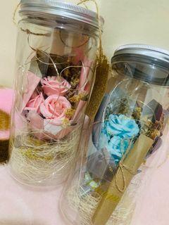 Wish Bottle with Flower Led Light