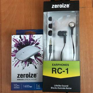 Zeroize Mouse & Earphones