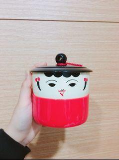 可愛小童雙層置物收納罐