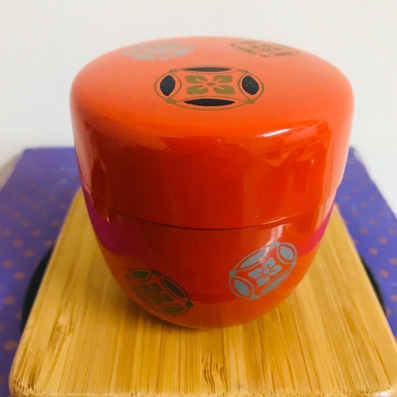 全新-日本進口漆器茶葉罐 隨身罐 密封罐 外出罐