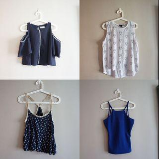 All must go! Tops off shoulder, muscle tank, cami, halter neck