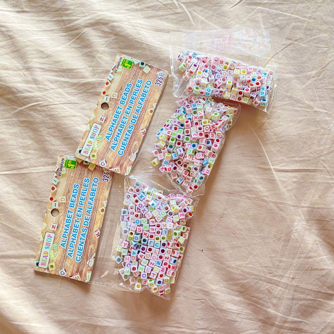 Colorful Letter Beads