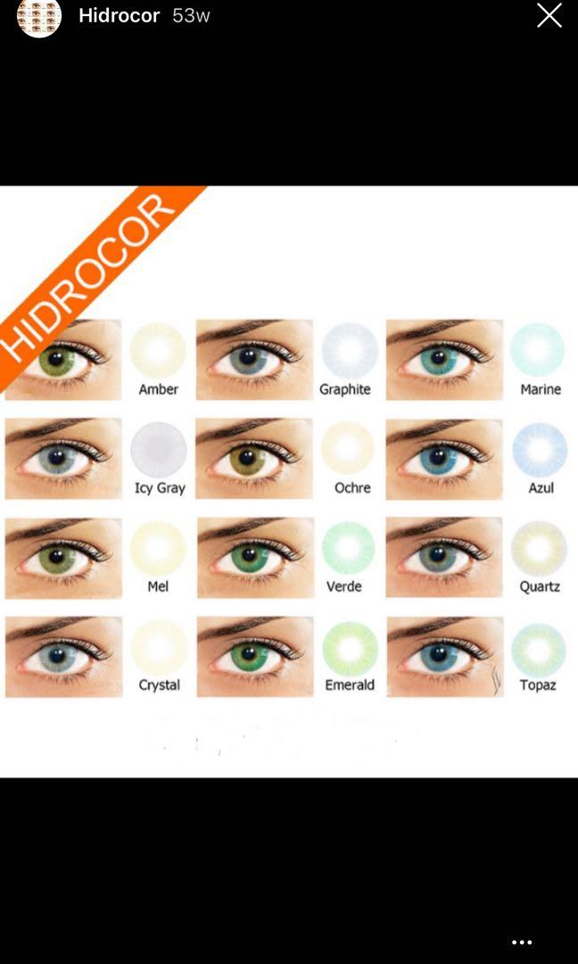 Coloured contact lens lenses