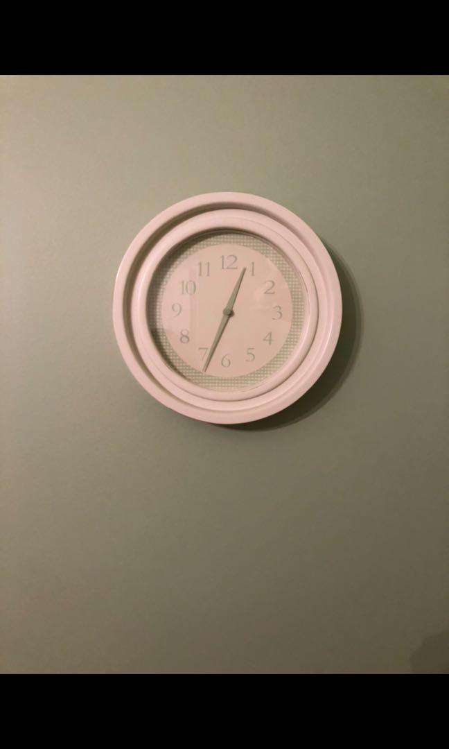 For Sale Light Green And White Clock