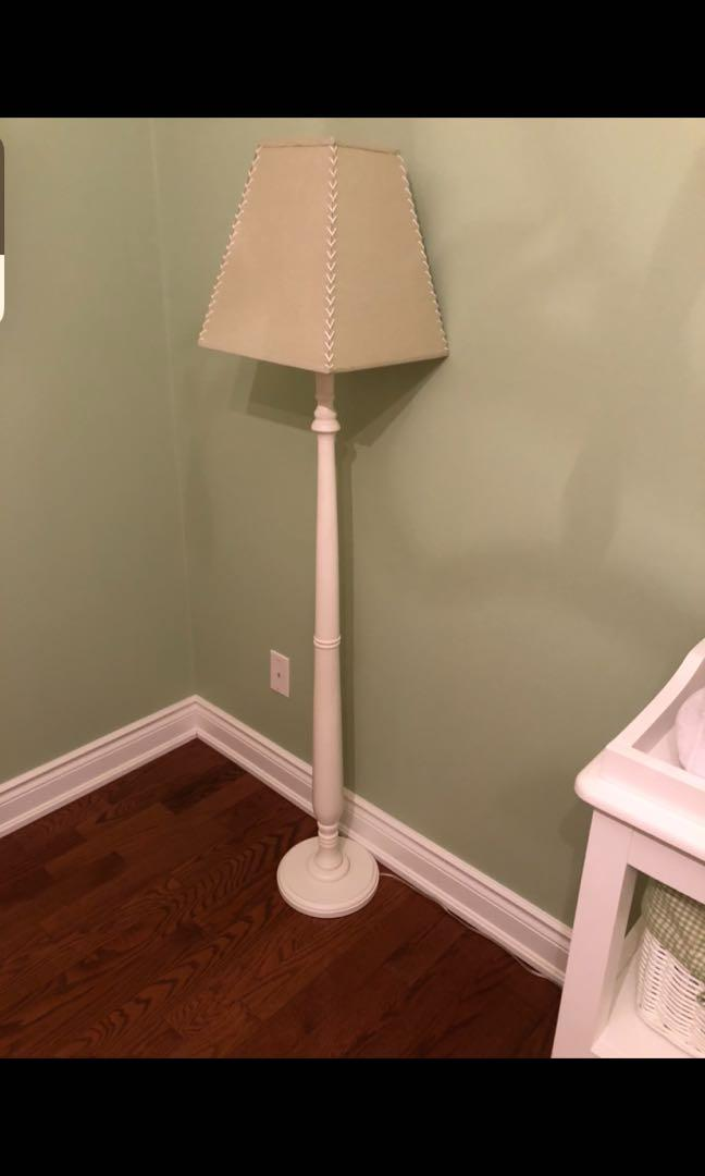 For Sale Light Green and White Lamp