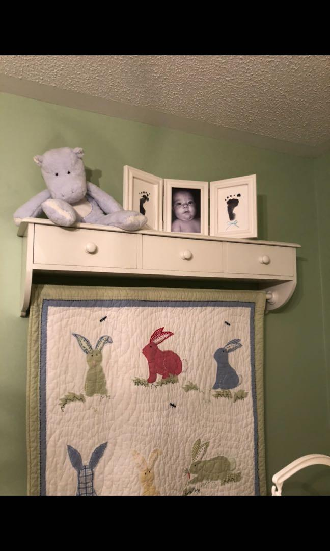 For Sale White Shelf with Drawers