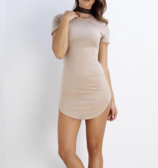 Forever 21 Nude Beige T-shirt Dress