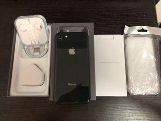 Full set 98%new iPhone 8 256gb black battery 88% one months warranty