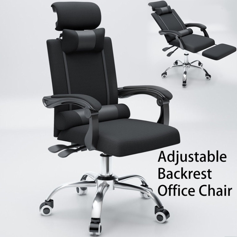 Home Office Chair Boss Manager with Leg Rest, Furniture, Tables & Chairs on  Carousell