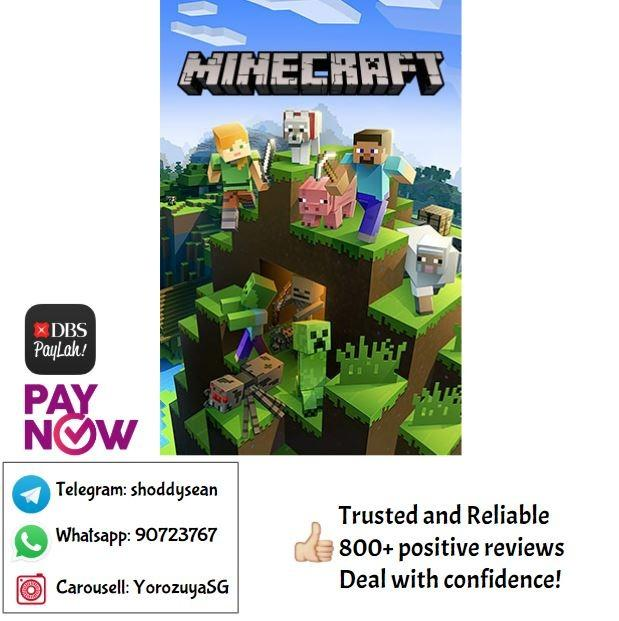 Minecraft Prepaid Game Card Java Edition Cd Key Entertainment Gift Cards Vouchers On Carousell