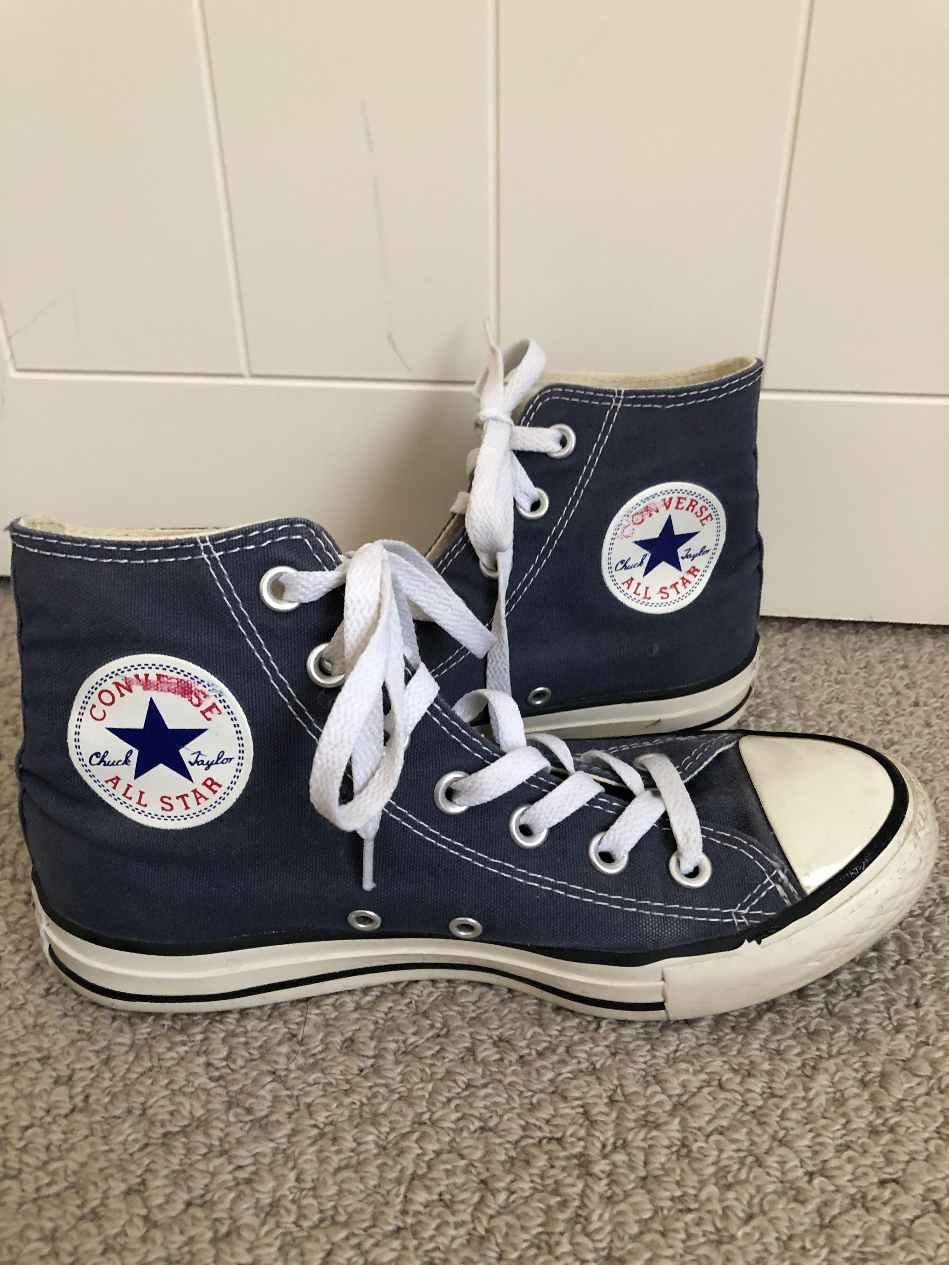Navy Converse - High Tops