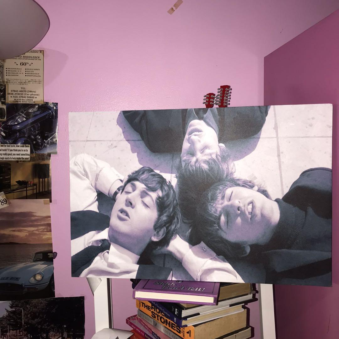 The Beatles Poster (Wood Frame)