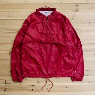 《白木11》 🇺🇸 80s Russell Athletic anorak 美國製 酒紅 套頭 風衣 教練外套 古著