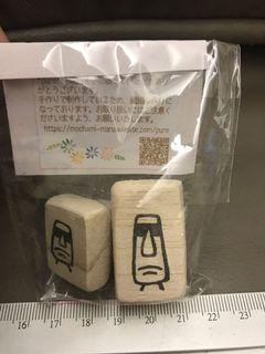 日本設計師文創限定商品-石頭人橡皮章兩入