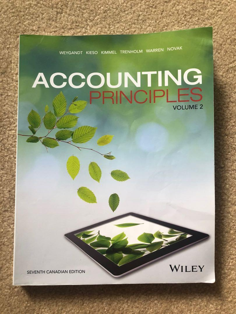 ACCOUNTING PRINCIPLES VOLUME 1 TEXTBOOK