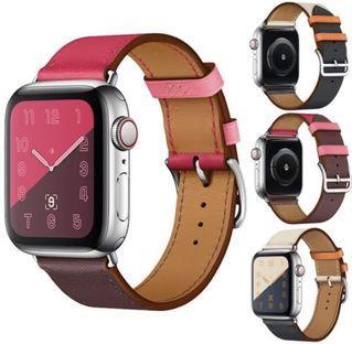 Apple Watch 時尚雙色皮錶帶