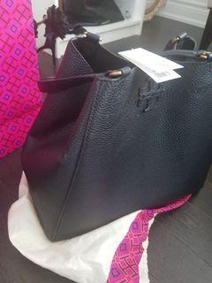 BNIB authentic Tory Burch black leather bag