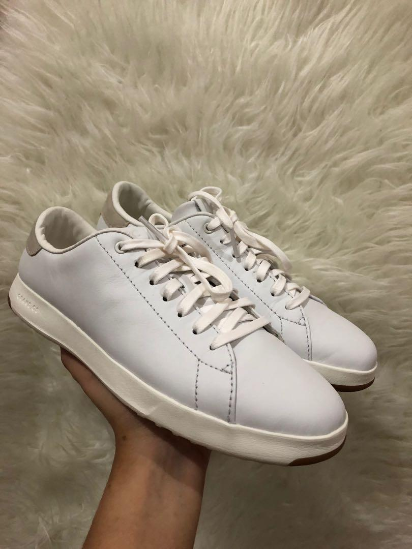 Cole Haan White Leather Sneakers