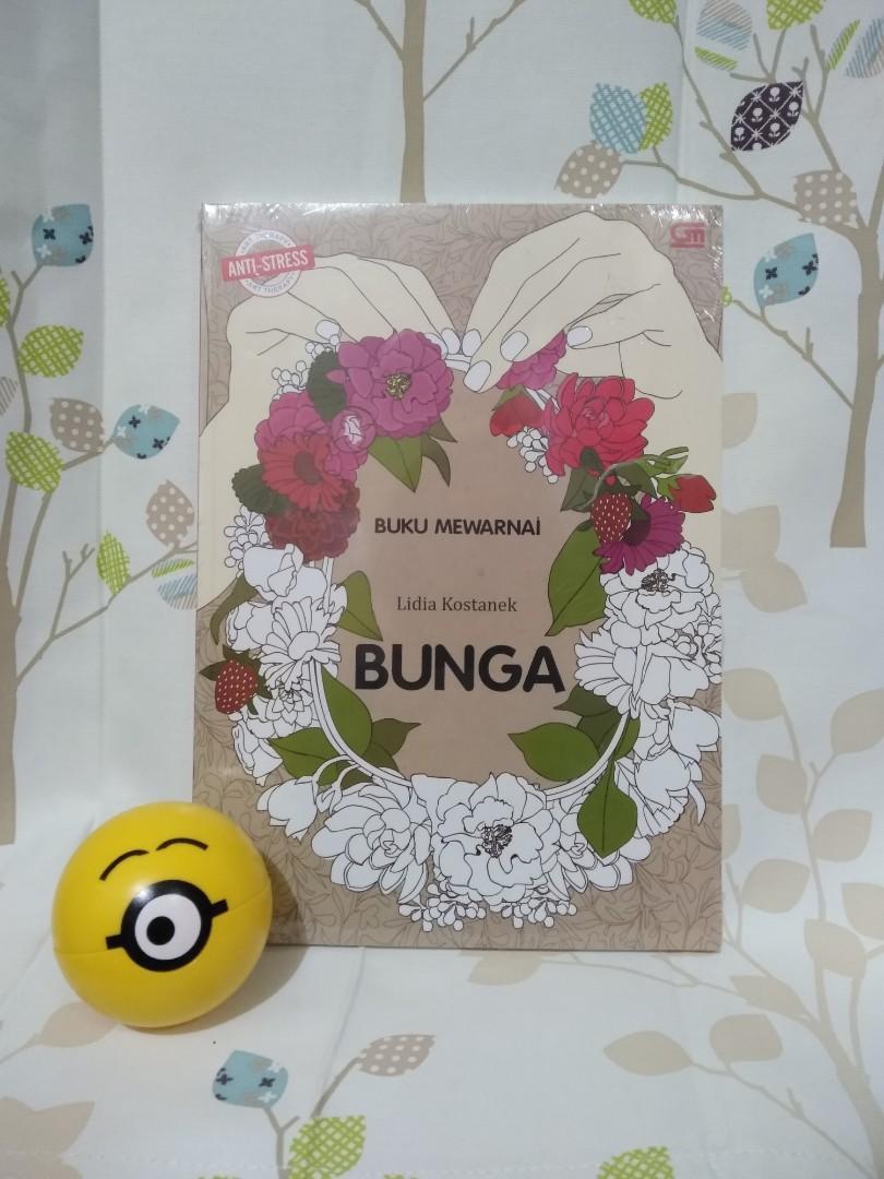 """Coloring Book Dewasa """"BUNGA"""" Lidia Kostanek"""
