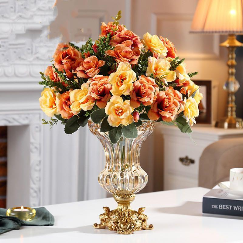 European Crystal Glass Vase Gardening Flowers Bouquets On Carousell