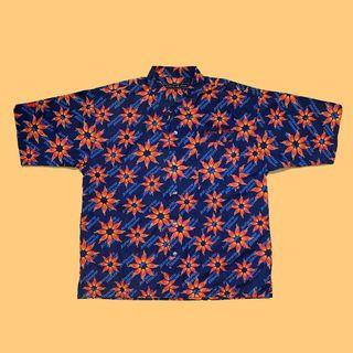 JCI:Vintage 罕見逸品 Johnny blaze 火焰印花 夏威夷衫 90s嘻哈 / 古著 / 花襯衫