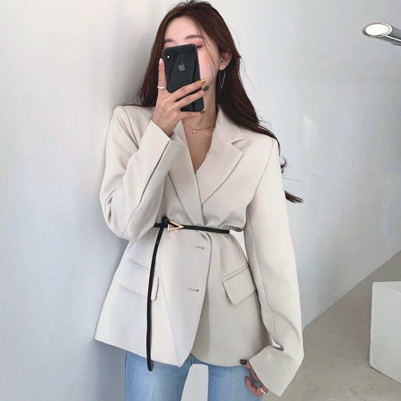 khaki/black/white blazer (S M L)