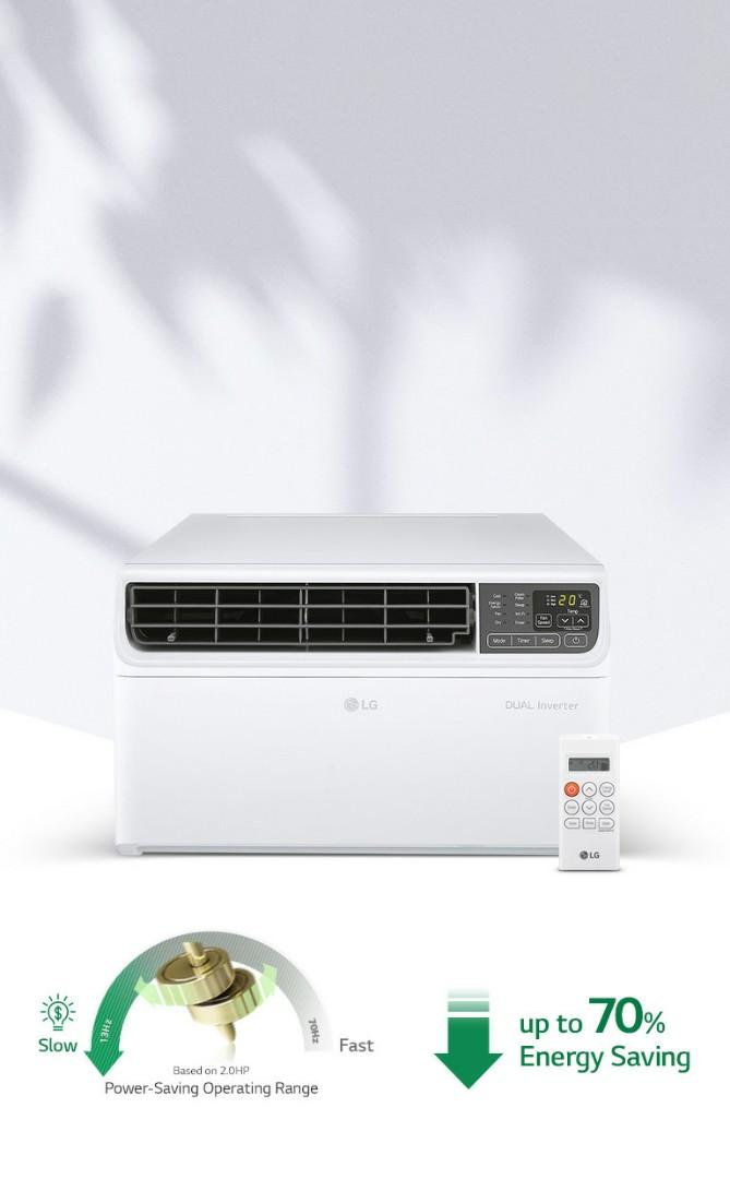 Lg 2020 Model Dual Inverter Window Type Home Furniture Home Appliances Air Conditioning And Heating On Carousell