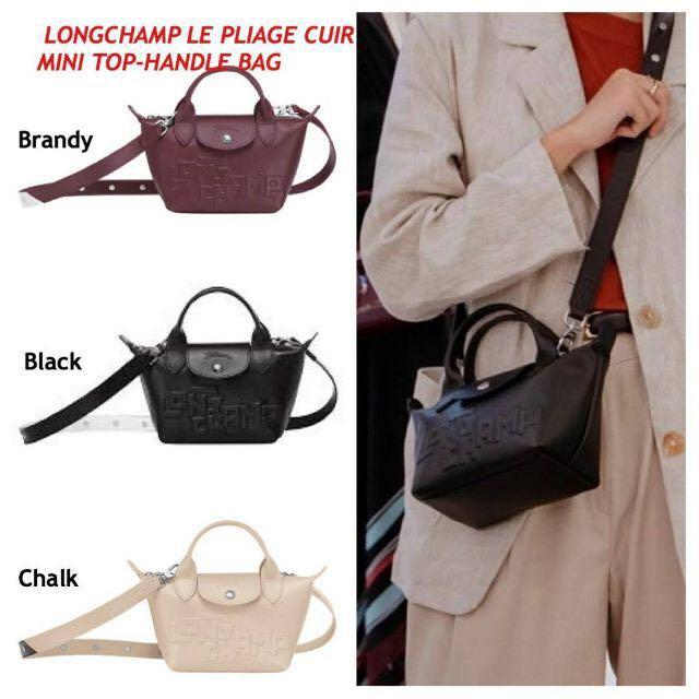 Longchamp Le Pliage mini cuir