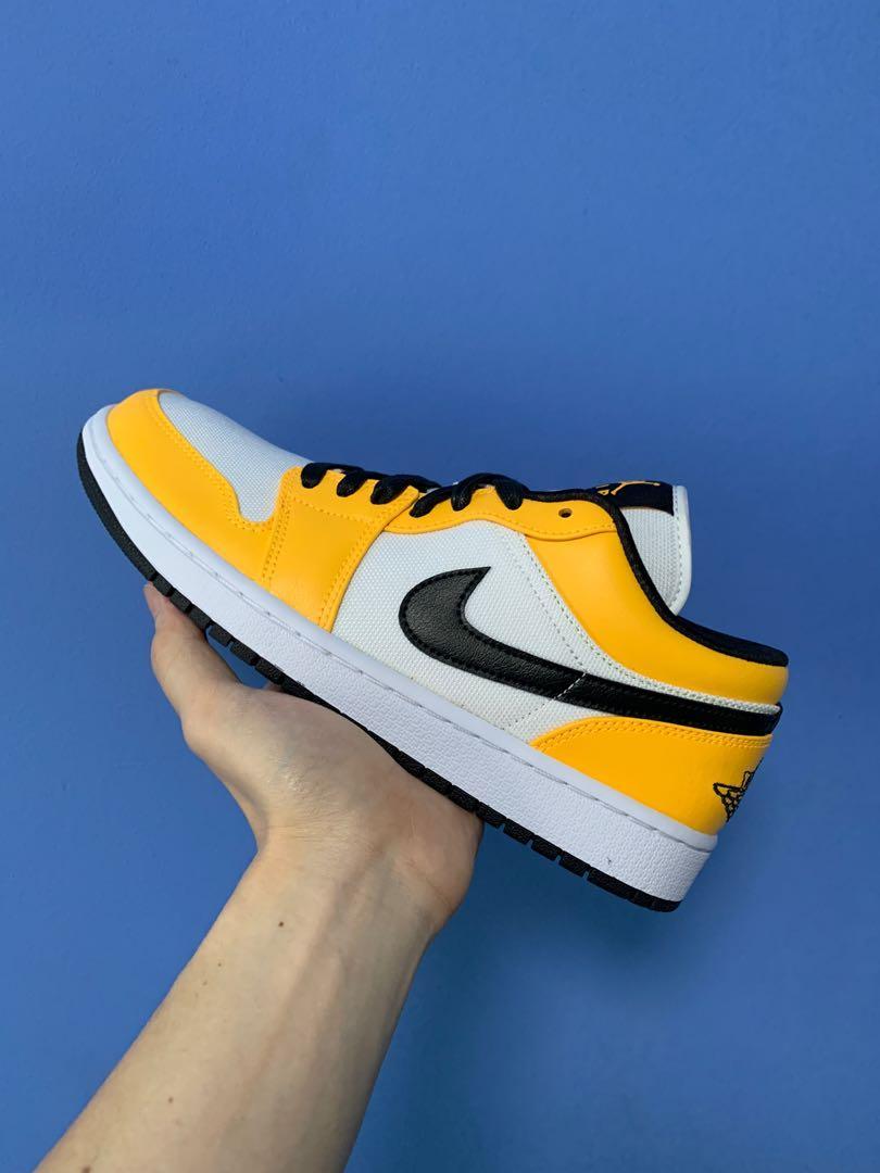 viva Hornear Registrarse  Nike Air Jordan 1 Low SE yellow laser orange black, Men's Fashion,  Footwear, Sneakers on Carousell