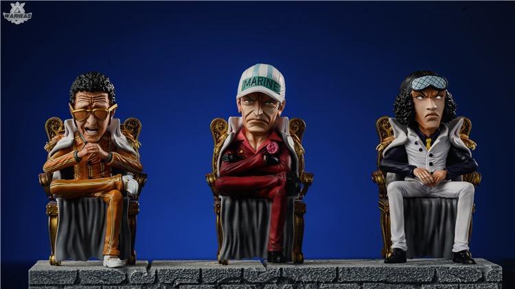 [PO]ONE PIECE: SAKAZUKI, BORSALINO AND KUZAN - THE MARINES STATUE FIGURE